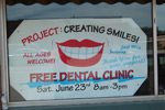 We helped a total of 95 people at our free dental clinic, Project Creating Smiles.